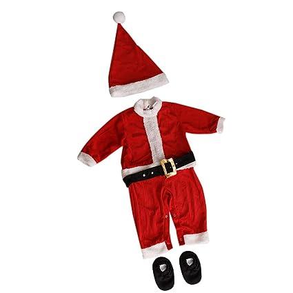 P PRETTYIA Traje de Navidad Santa de Elfos Disfraces Juego ...