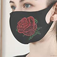 Reusable 2-Layer Cotton Face Mask Diamond Painting Kit For Adult, Diamond Diy_ _ S Protection Women Teen Girls