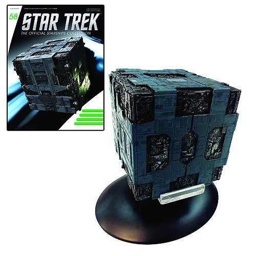 Star Trek Starships Borg Tactical Cube Die-Cast Vehicle with Collector - Borg Ship