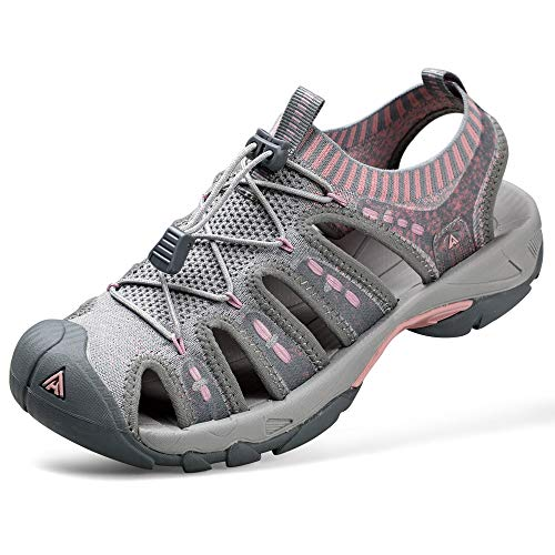 HUMTTO Women's Outdoor Sport Sandals Knitted for Hiking/Cycling/Camping Water Shoes Girls Pink Size 7