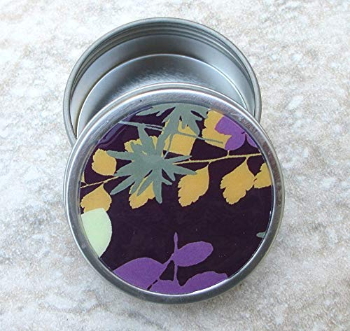 Purple Frond Decorative Tin, Screw top lid, 2oz capacity