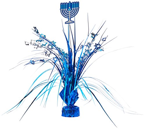 amscan Hanukkah Blue Foil Spray Centerpiece | Party Decoration -
