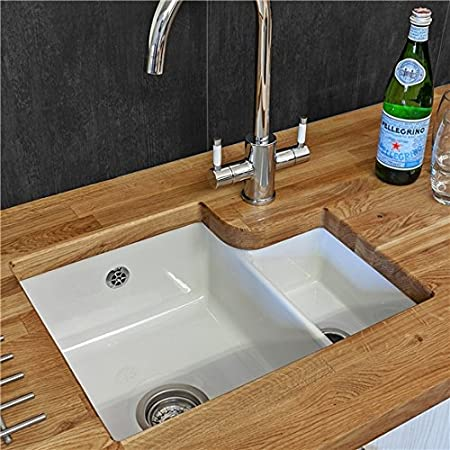 Reginox Tuscany 1.5 Bowl White Ceramic Undermount Kitchen Sink ...