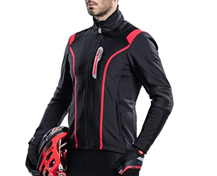 18452089f Image Unavailable. Image not available for. Color  Santic Men s Cycling  Jacket Biking Winter Coat Windproof ...