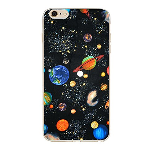 iPhone 6s case,Galaxy Planet Design Slim Flexible Clear Bumper TPU Soft Cover for iPhone 6 6s 4.7 inch (Galaxy)