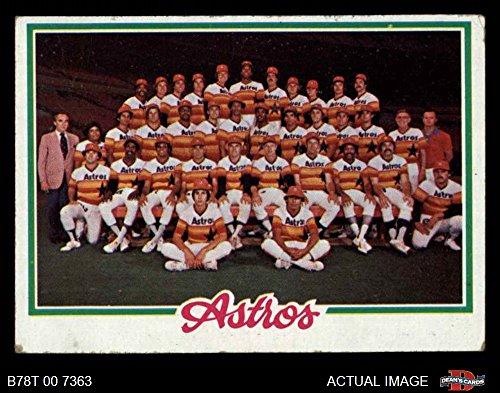 1978 Topps # 112 Astros Team Checklist Houston Astros (Baseball Card) Dean's Cards 1.5 - FAIR Astros