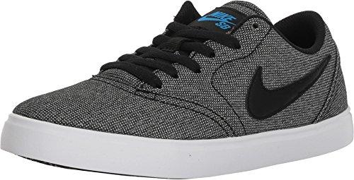 (Nike Boy's SB Check Canvas Skate Shoes (5.5 M US Big Kid, Grey/Black/Blue/White))