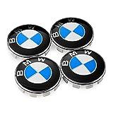 #4: DIYcarhome Wheel Center Caps Hub Caps 68mm For BMW Badge Emblem, 2.68 inche Logo Badge Hub Wheel Rim Center Cap Hubcap Cover(4Pcs)