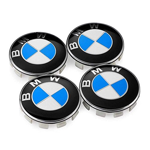 DIYcarhome Wheel Center Caps Hub Caps 68mm For BMW Badge Emblem, 2.68 inche Logo Badge Hub Wheel Rim Center Cap Hubcap Cover(4Pcs)
