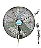 Ventomist VTPFH-30B-OSC-WM Premium Misting Fan Head with Wall Mount, 30''