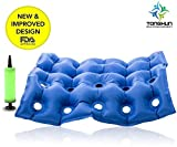 TONGKUN FDA Medical Air Seat Inflatable Office Car Wheelchair Square Cushion Cushions Mattress with Pump - Anti Hip Decubitus Fatigue Prevent Bedsore for Long-time Sitting People