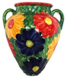 Cactus Canyon Ceramics Wall Flower Pot - Spanish Tinaja - Primavera - Hand Painted in Spain