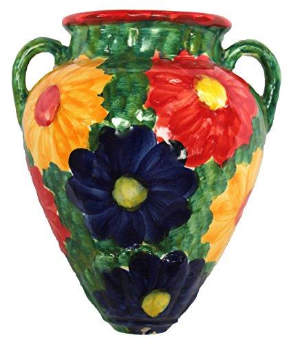 Cactus Canyon Ceramics Wall Flower Pot - Spanish Tinaja - Primavera - Hand Painted in Spain by Cactus Canyon Ceramics