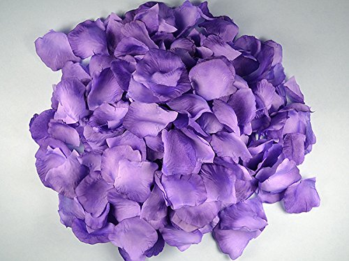Ben Collection 300 Pieces Silk Rose Petal Wedding Decoration (Purple) ()