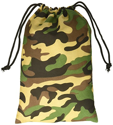 Camouflage Drawstring Bags - 1 Dozen (Army Birthday Party)