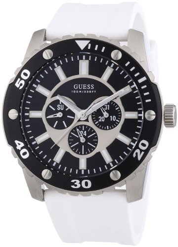 Guess Gents Sports White Rubber Strap Watch W10616G2