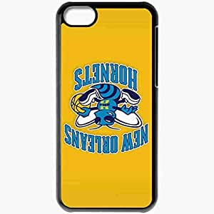 Personalized iPhone 5C Cell phone Case/Cover Skin Nba New Orleans Hornets 3 Sport Black