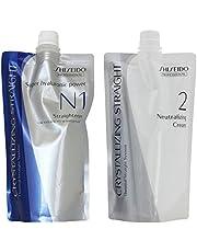 Shiseido Professional Crystallizing Hair Straightener (N1) + Neutralizer for Fine or Tinted hair(N2)