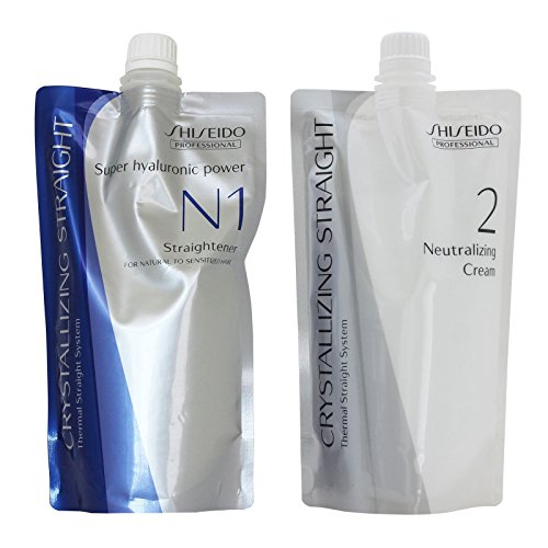 Shiseido Crystallizing Straight For Natural to Sensitized hair(old version :  Fine or Tinted Hair) N1+2 400g(a piece) (Best Permanent Hair Straightening)
