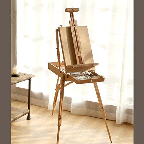 Caballete De Madera Profesional De La Pintura De La Exhibición Del Arte - 86.5Cm Caballete De Madera Ajustable Alto Para...
