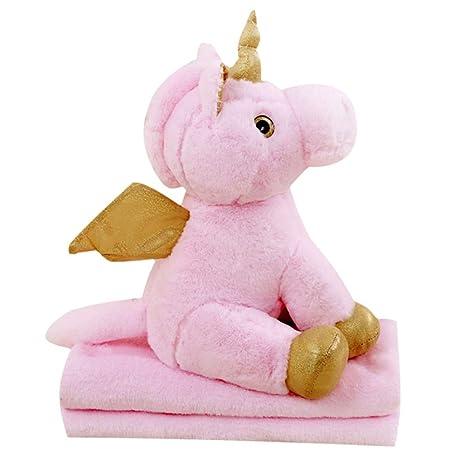 Wmai Juguete De Felpa Doble Unicornio Suave con Cojín De ...