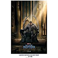 RARE POSTER marvel BLACK PANTHER movie 2018 giclee REPRINT #'d/100!! 12x18
