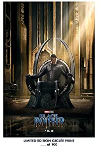 Amazon Com Rare Poster Marvel Black Panther Movie 2018 Giclee