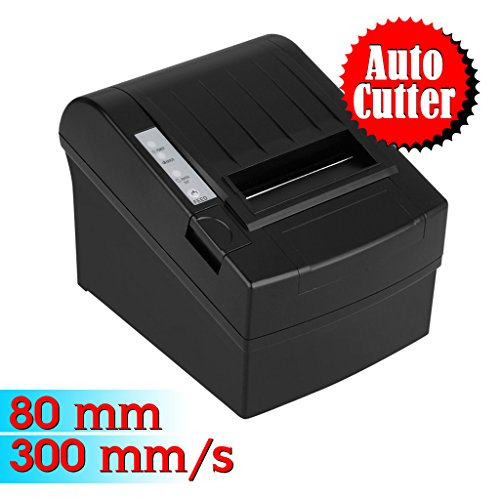 Exelvan Bondrucker 80mm 300mm/s Thermal Printer komplett mit Zubehör Kassendrucker Thermodrucker AUTO-CUT DE