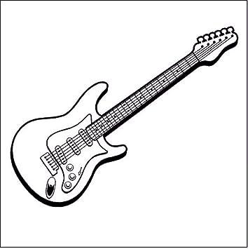 Lvabc 34X86 Cm Música Arte Diseño Etiqueta De La Pared Guitarra ...