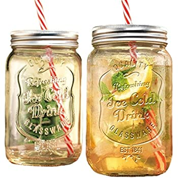 glass mason jar beverage cups drink cup stainless steel lid straw included oz clear set with handles and lids mug wholesale