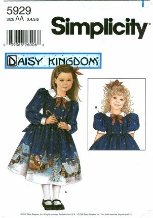 bbe4a3a40 Patrón de costura Simplicidad 5929 Daisy Unido vestidos de niña y muñeca  vestido tamaño 3 - 4 - 5 - 6: Amazon.es: Juguetes y juegos