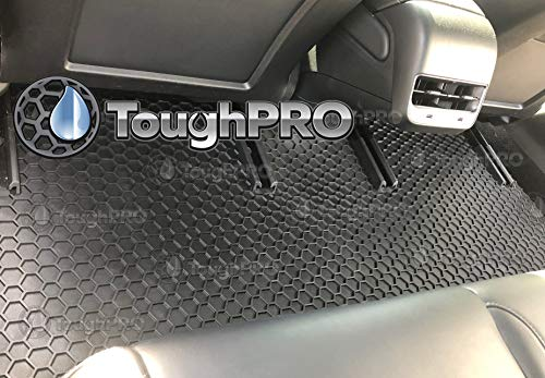 Mar 2019 Heavy Duty - - Black Rubber Aug 2019 TOUGHPRO Floor Mat Accessories Set Made in USA All Weather Compatible with Tesla Model 3 Front Row + 2nd Row