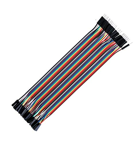 FEDUS® Reusable Solderless Breadboard Dupont Jumper Wires Connector for Raspberry Bot Circuit Creating Ribbon Cables Kit PCB Cable Male to Female, 40 Pieces Price & Reviews