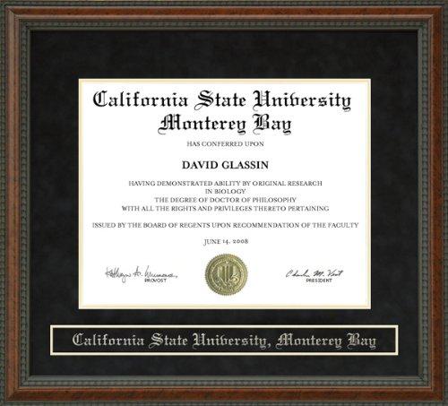 California State University  Monterey Bay  Csumb  Diploma Frame   Burl
