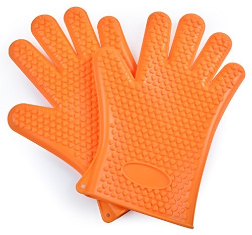 Platinum Insulated Pan - Heat Resistant, Grilling,Baking Silicone Gloves. Insulation Waterproof, Heat-resistant Anti-skid. Family Preferred Grill Utensils, A Good Gift for Family and Friends.