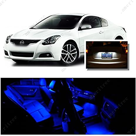 Ameritree Nissan Altima Coupe 2007 2012 (9Pcs) Blue LED Lights Interior  Package And