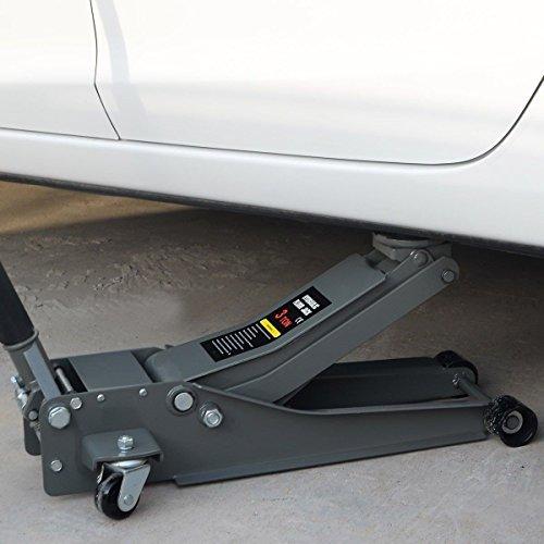 Heavy Duty Low Profile Floor 3 Ton Jack Steel Ultra Rapid Pump Car Pump Lowrider by Apontus (Image #1)