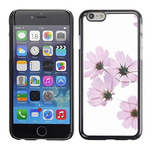 Soft Silicone Rubber Case Hard Cover Protective Accessory Compatible with Apple iPhone? 6 (4.7 Inch) - white spring pink flowers white