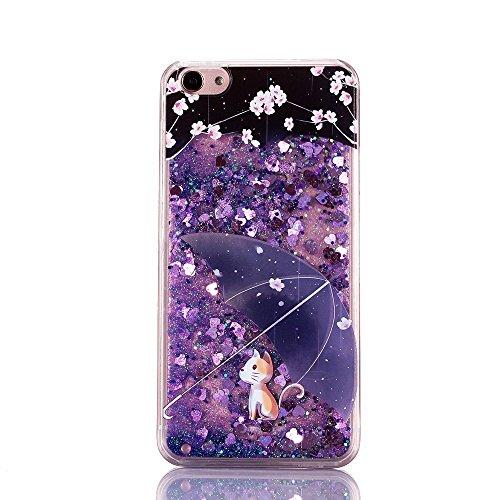 iPhone SE Hülle Transparent Glitzer Flüssig Liquid Hard Case für iPhone 5S,iPhone SE Hülle Flower,Schutzhülle für iPhone SE 5 5S Hülle Transparent Hardcase,EMAXELERS iPhone 5S Hülle für Mädchen,iPhone Girl Liquid 8