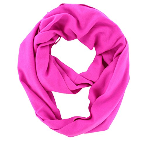 Solid Color Cashmere Infinity Cowl Scarf (Hot (Hot Pink Cowl)