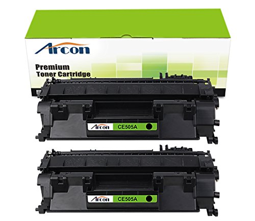 ARCON 2PK (2,300 pages) Compatible Toner Cartridge Replacement For HP 05A CE505A CE505 Used For HP LaserJet P2030 P2035 P2035N P2050 P2055 P2055X P2055D P2055DN Black