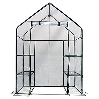 Ogrow Deluxe Walk-In 3 Tier 6 Shelf Portable Greenhouse from King Service Holding Inc
