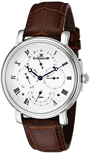 Thomas Earnshaw Men s ES-8048-01 Longcase Master Calendar Analog Display Japanese Quartz Brown Watch
