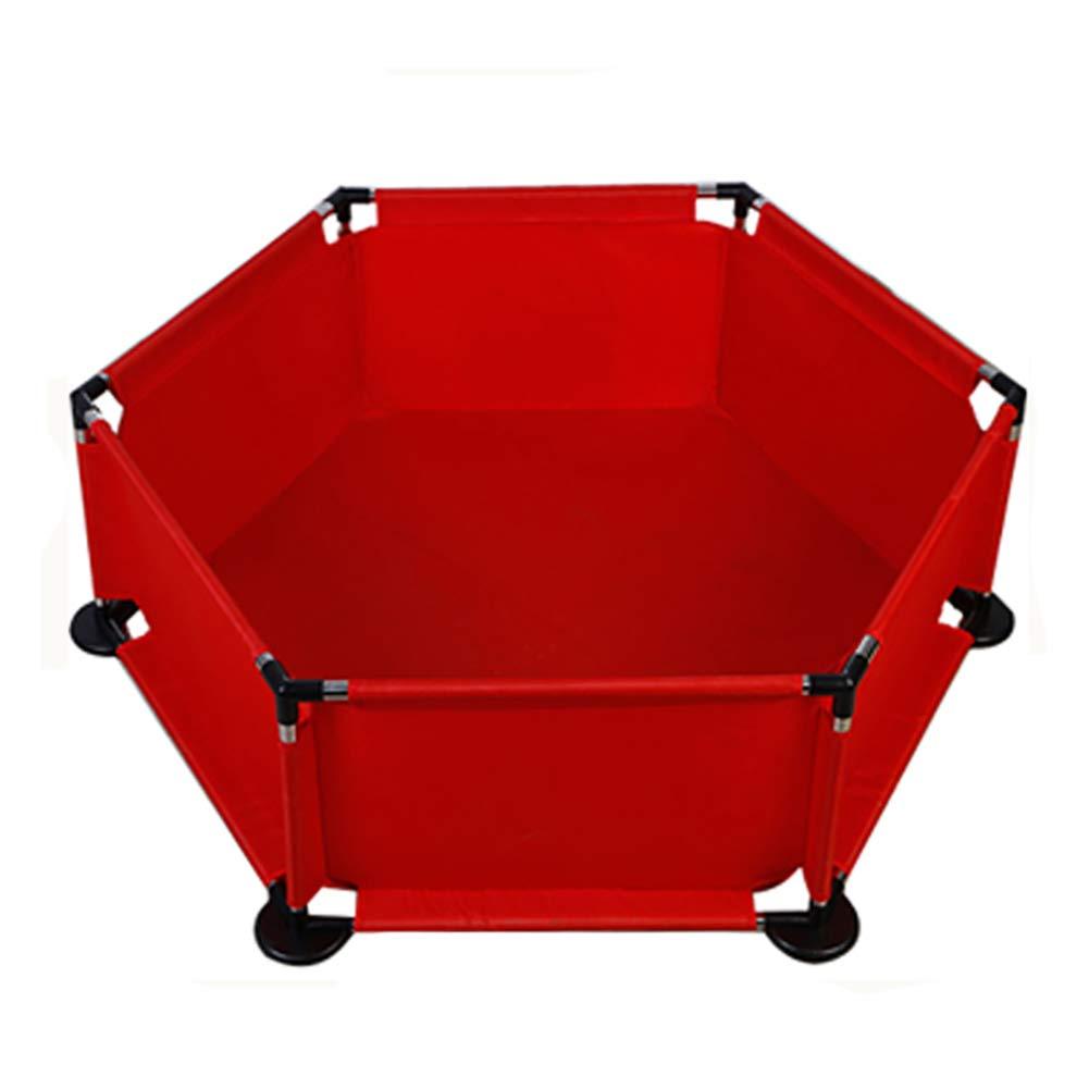 注文割引 KTYXDE KTYXDE フェンスの赤ちゃん6パネルゲームフェンスポータブルセキュリティゲームビッグフェンス マットレス (色 : 赤) 赤) 赤 マットレス B07QQMCNM1, 海部町:d895657e --- a0267596.xsph.ru