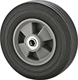 "Rocky Mountain Goods Solid Rubber Hand Truck Wheel 8'' - 5/8"" axle Size - Flat Free Solid Rubber Replacement tire for Hand Truck, cart, Power Washer, Dolly, Compressor - 550 lbs. (8'')"