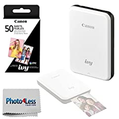 This slate gray IVY Mini Mobile Photo Printer from Canon allows you to easily print pictures off a compatible phone or tablet. It runs on a built-in rechargeable battery and uses Bluetooth connectivity to pair with your iOS or Android device,...