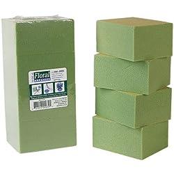 Greenbrier 8 Piece Gentle Grip Floral Foam Blocks, Green (8 blocks)