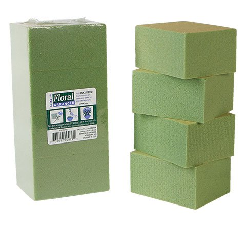 Greenbrier 8 Piece Gentle Grip Floral Foam Blocks, Green (8 blocks) 4336860740