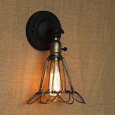 TY American Industrial-Style Fence Iron Mesh Bronze Decorative Wall Sconce