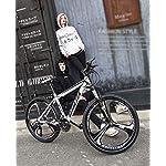 AISHFP-Uomo-Donna-Scopo-Generale-di-Mountain-Bike-Beach-motoslitta-Biciclette-Biciclette-Doppio-Freno-a-Disco-per-Adulti-26-Pollici-in-Lega-di-Alluminio-Ruote